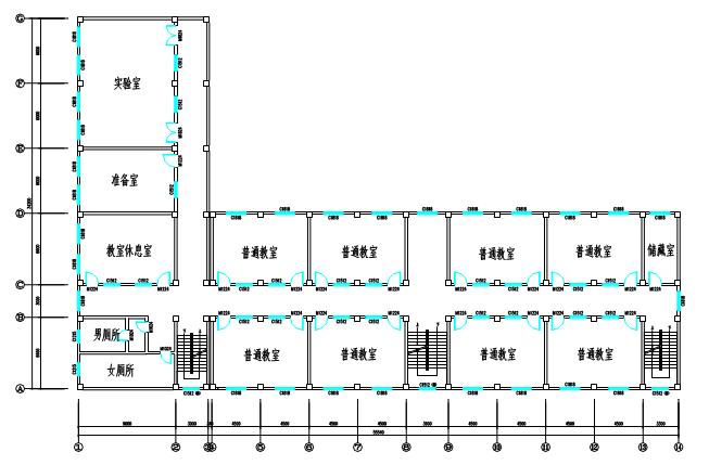 框架教学楼毕业设计计算书-安徽理工大学