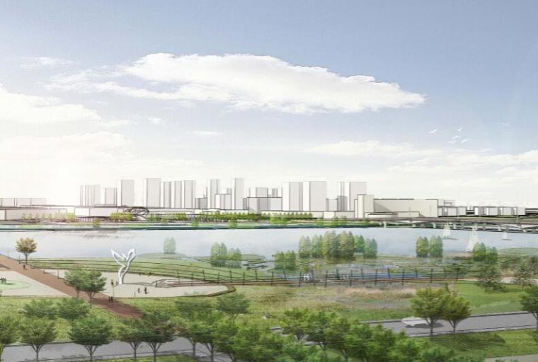 钱资湖景观概念规划设计方案文本-04都市滨湖门户区