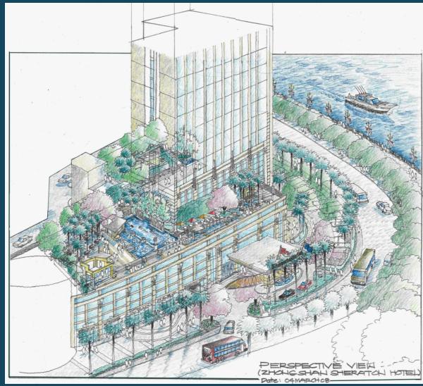 中山喜来登酒店最终概念设计(含有景观图纸)