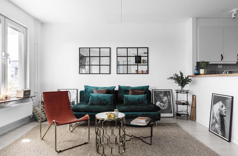法式北欧风43㎡单身女子公寓