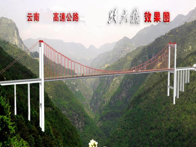 [云南]山区全长1040m钢箱梁悬索桥火箭抛送PWS法主桥上部结构总结