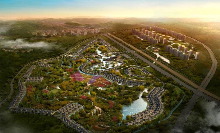 中国成都熊猫小镇.悦榕庄整体规划方案