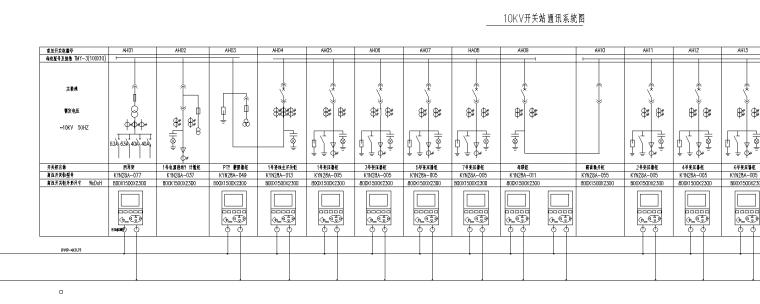 高压10KV两进线系统图