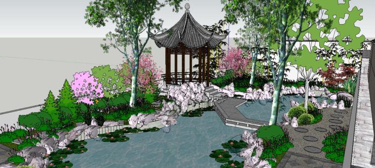 座凳•座椅,景墙•围墙,水景庭院设计su模型_6
