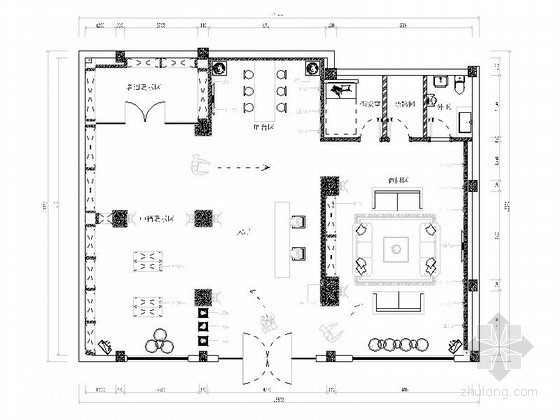 现代红酒专卖店室内装修施工图