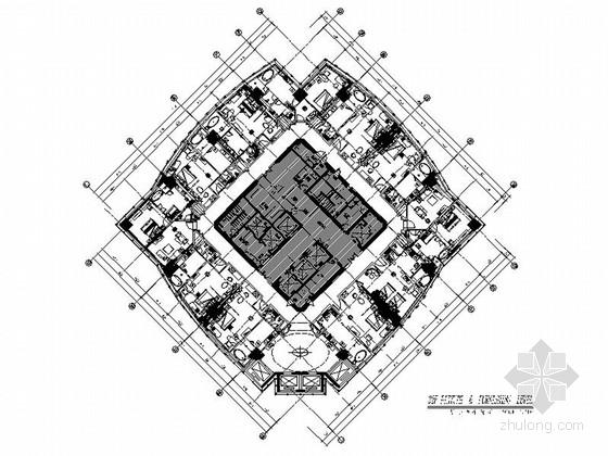 [天津]酒店现代客房及过道室内装修施工图(含实景图)