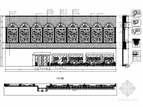 [福建]国际豪华欧式音乐会所设计施工图(含效果)外观立面图