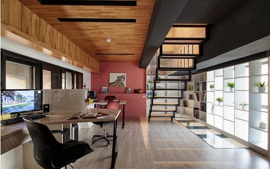 小型创意办公室推荐-loft风格装修设计效果图-室内