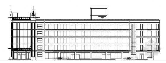 西安市文化广场建筑设计施工图