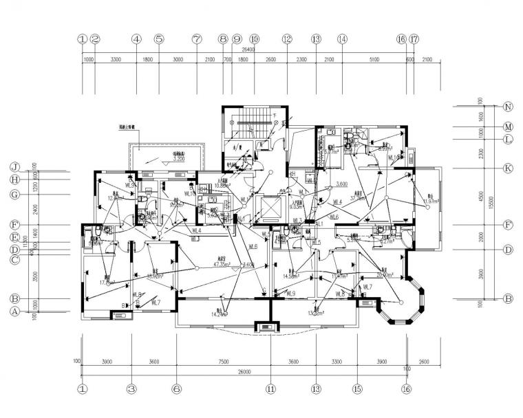[河南]高层住宅电气施工图