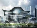 [蘇州]三層混凝土柱與空間鋼管桁架式排架結構大空間現代展覽館結構施工圖(含建施)