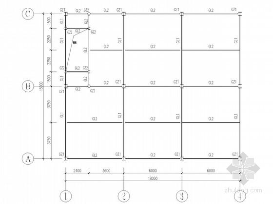 三层钢框架超市结构施工图
