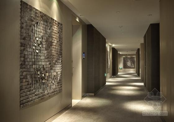 [上海]豪华现代酒店卫生间电梯厅走道室内装修施工图(含效果)走道效果图