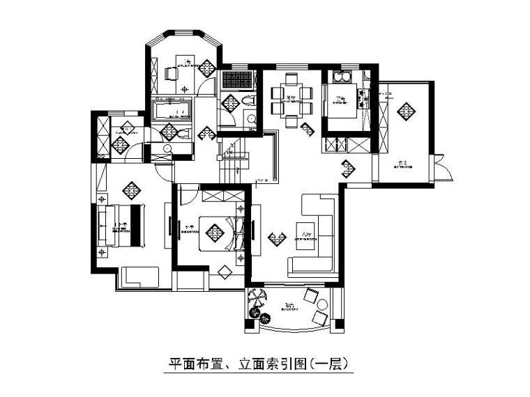 跃层公寓样板间设计CAD施工图(含实景图)