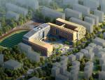 [深圳]多层现代风格S形建筑游廊式中学建筑设计方案文本