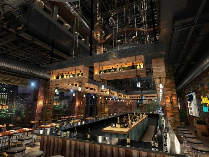咖啡餐厅设计作品,海南红树林餐酒吧