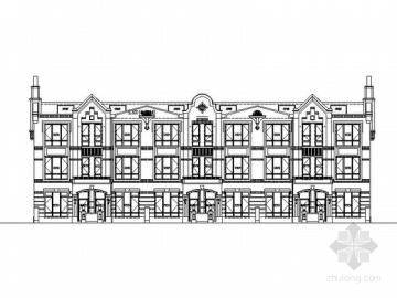 [合集]5套多层联排式别墅建筑施工图(超多合集)