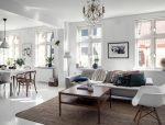 瑞典54平米白色通透公寓光感十足