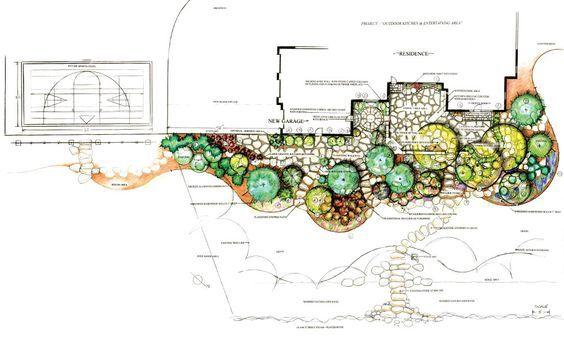 【园林景观设计图集】植物配置平面图85