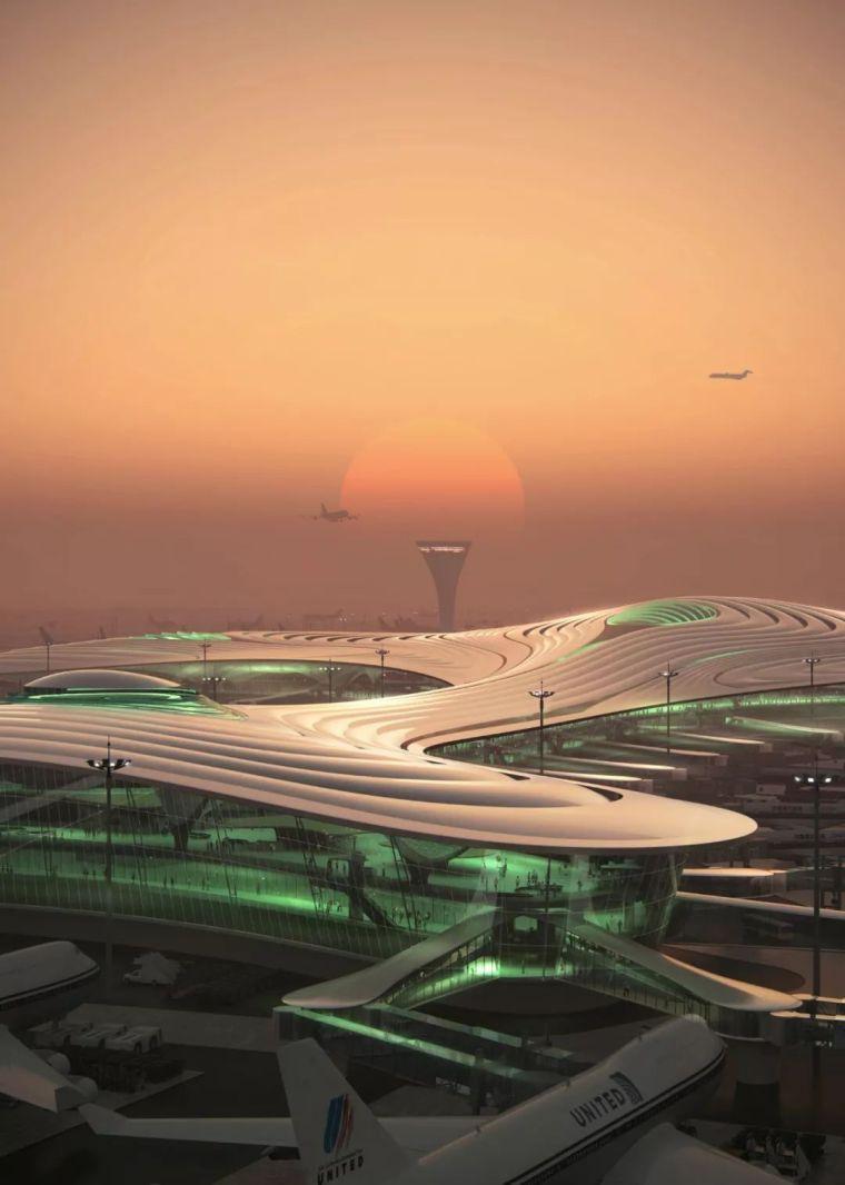 """MAD公布哈尔滨新机场设计—-""""北国冰花"""""""