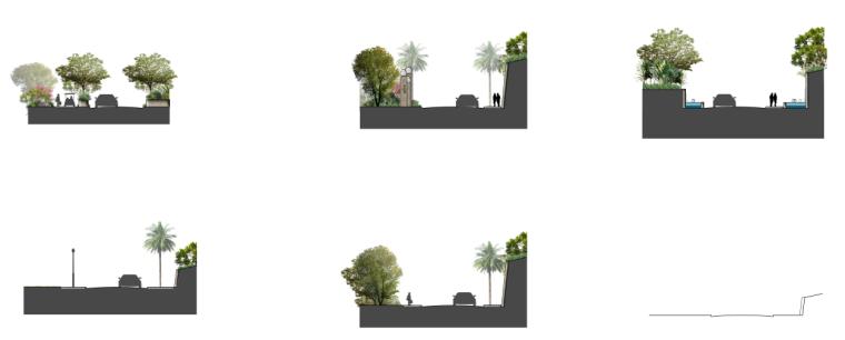 景观剖面图PSD分层素材-会议中心2