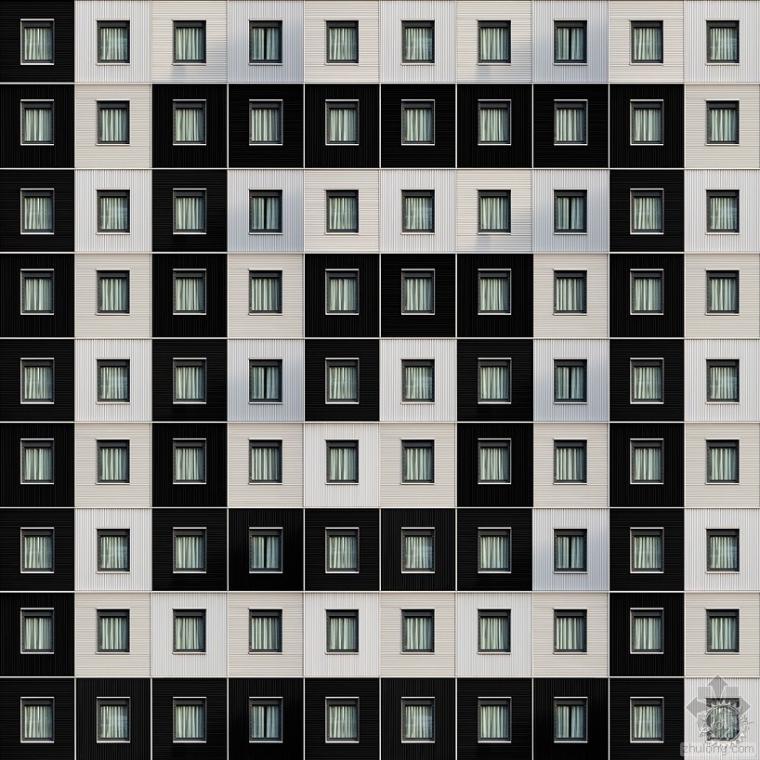 同一元素不同的建筑立面