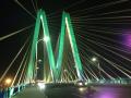桥梁照明设计——广东省唯一一座双钻石型独塔四索面斜拉桥:河源