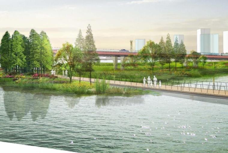 钱资湖景观概念规划设计方案文本-03都市滨湖门户区