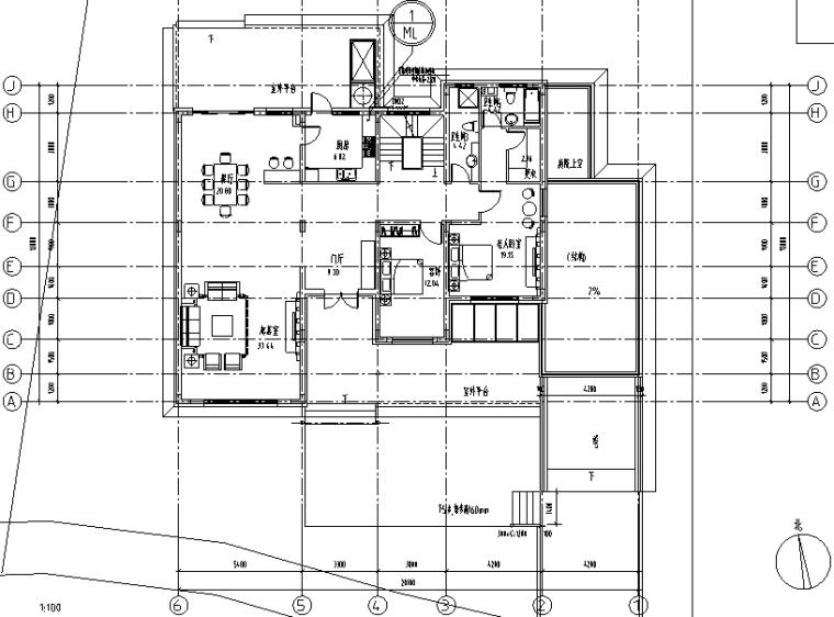 佘山宝石别墅暖通工程施工图(CAD)