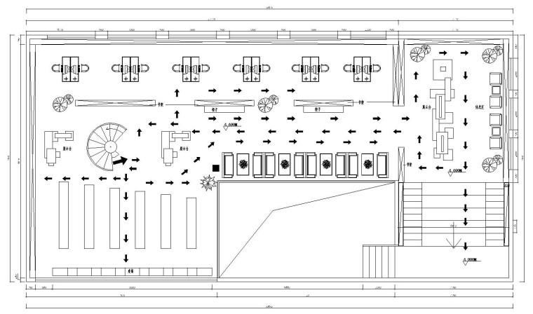 书吧装修CAD施工图-Model