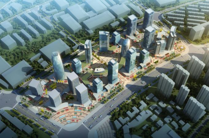 [湖南]生态海绵城市雨水环保科技工业产业园区景观设计方案(2016最新)-中心区景观效果图