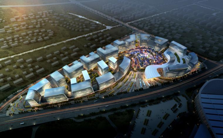 [河南]后现代感保利会展中心商业综合体建筑设计方案文本